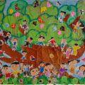河内保育園園児のみなさんの作品を展示しています!